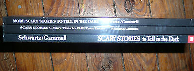 NEW Lot of 3 SCARY STORIES to Tell in the Dark Alvin SCHWARTZ Stephen GAMMELL