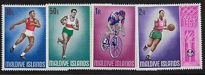Maldive Islands Scott #288-91, Singles 1968 Complete Set FVF MH