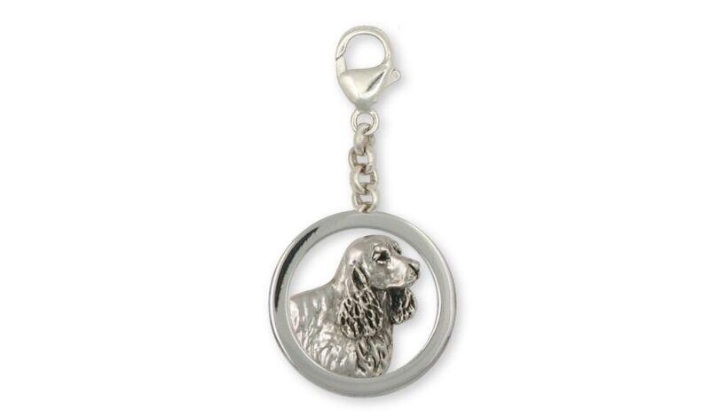 Springer Spaniel Zipper Pull Jewelry Sterling Silver Handmade Dog Zipper Pull SS