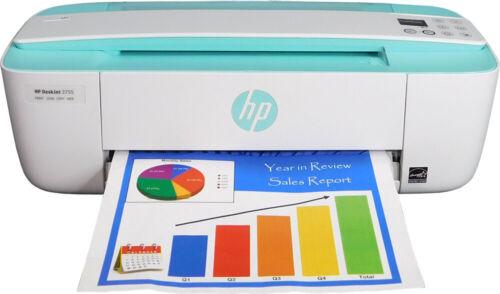 HP DeskJet 3755 All-in-One Copy Printer New - Open Box (Green)