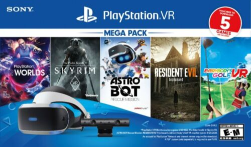 Brand New Sony PlayStation VR Bundle 5 Five Game Pack