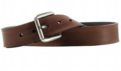 Ariat Western Mens Belt Leather Work Triple Stitch Copper A10004631 Ariat Mens Work Belt