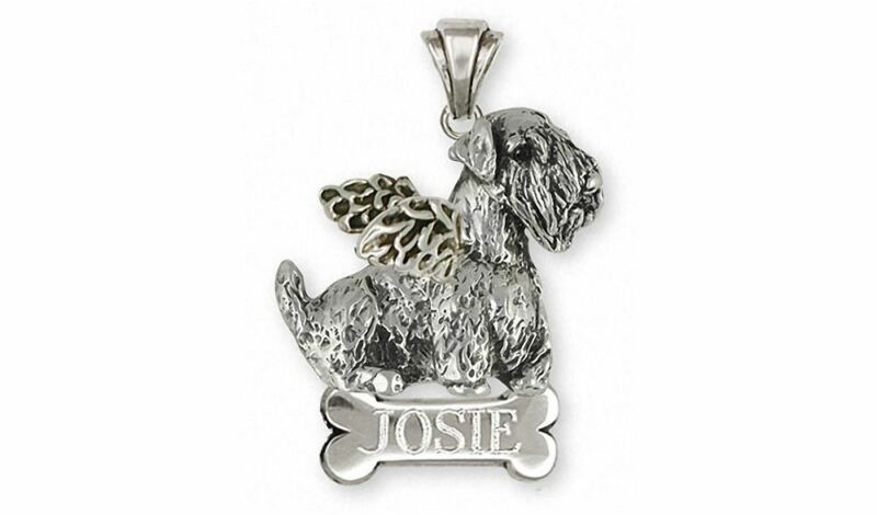 Sealyham Terrier Angel Pendant Jewelry Sterling Silver Handmade Dog Pendant SEM1