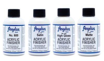 Angelus Paint Acrylic Leather Finish Finisher Satin Semi-Gloss High Gloss Matte