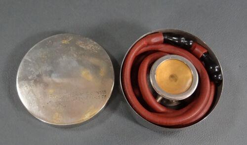 Antique French Medical Stethophonendoscope de Frossard Binaural Stethoscope box
