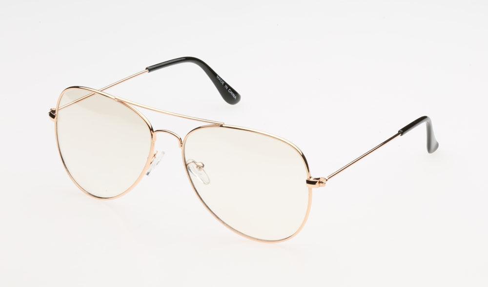 clear lens aviator gold glasses fashion sunglasses