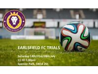 Football Trials July - Amateur Intermediate team in South West London Saturday Kick Offs New Players