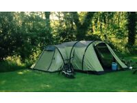 Vango Airbeam Infinity 600, with porch and carpet