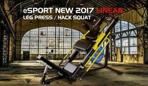 Free Shipping coupon code is eSPORT, NEW eSPORT Light Commercial Linear Bearings Leg Press & Hack Squat LPH1000