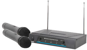 QTX-PRO-Quality-Radio-Wireless-Microphones-Set-for-DJ-Karaoke-Band-Disco