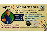 Electrician, General Maintenance, Blinds/Curtains fixing & Handy Man