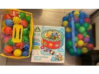 ELC ball pit and 2 bags of soft play balls