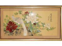 ORIGINAL CHINESE SILK PAINTING early 20th century decorative chinese art