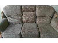 3 seater and 2 single seater sofas