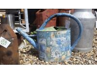 Vintage french decoupage watering can - garden - indoor