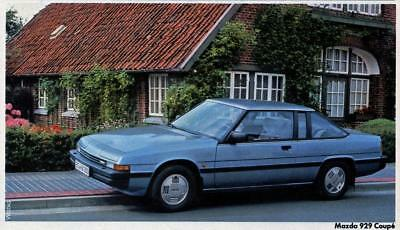 Print. Blue 1983 Mazda 929 Coupe (Germany) Auto Ad