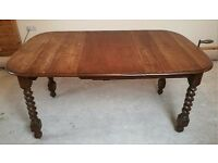 Solid Oak Table and Chairs Antique