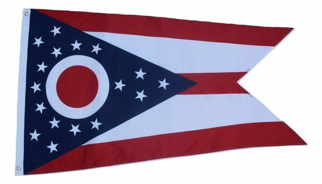 $6.50 Each 2-Pack Ohio Flag 3'x5' Ft Fade Resistant Double S