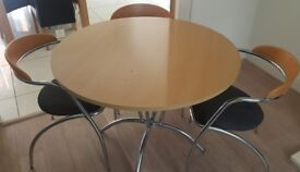 Round Dinner Table and 4 Chairs £20 O.N.O