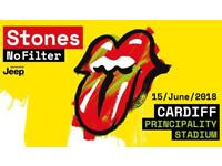 4 x tickets to see the Rolling Stones at Cardiff Friday 15th June