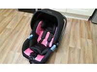 Recaro privia car seat (pink)