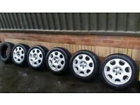 "Audi 16"" alloy wheels 4 winter tyres"