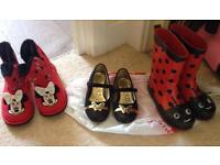 4 pairs of girls size 10 shoes