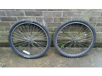 24inch wheels with tyres (front and rear)