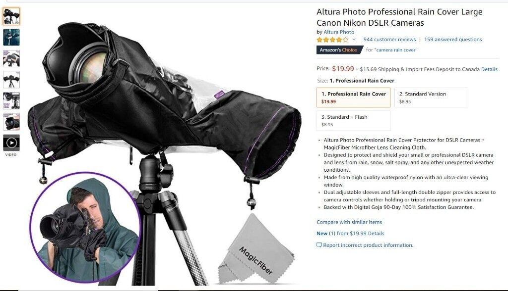Altura Photo Professional Rain Cover Large Canon Nikon Dslr