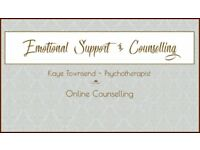 Online Counselling with Qualified Counsellor - No waiting Lists or Travelling