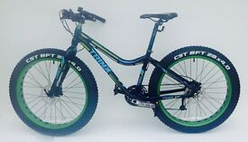 New Trinx Fat Bike 26 inch wheels 16 inch aluminum frame with 27 shimano gears