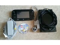 Black Wii U 32gb Console + Lego City Undercover Game