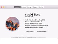 """9/10 Macbook 12"""" + 300GBP in extras, Retina Display 8GB RAM, barely used!!!"""