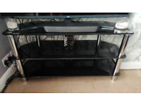 TV Cabinet / Stand / Unit / Table - Black Mirror Glass