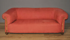 Large Antique Victorian Chesterfield 3 Seat Sofa Couch Settee For Reupholstery