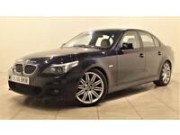 BMW 5 SERIES 2.5 525D M SPORT 4d AUTO 175 BHP + SERVICE HISTORY (black) 2006