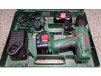 Bosch Drill, 2 x Batteries, Charger and Case
