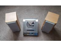 Sharp Mini Disc/CD Compact Stereo System & Speakers