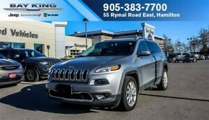 2016 Jeep Cherokee LIMITED, BLUETOOTH, NAVI, BACK-UP CAM, 8.4 DI