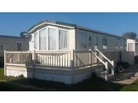 Modern holiday caravans for hire, 4 berth at Suffolk Sands Felixstowe no long term lets