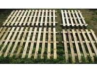 4x Heavy Duty Unused 6ft Timber Wooden Fence Sections Nr Brighton