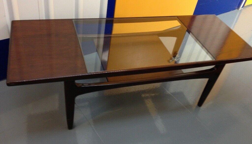 G Plan Teak & Glass Coffee Table Vintage Retro Mid Century