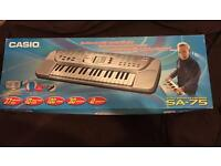 Casio Song Bank Electric Keyboard (SA-75) in Box