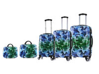 4 Wheel Luggage Suitcase Trolley Holiday Travel Bag Case 5 Pcs Set Hard Shell Suitcases Cabin Vanity