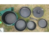 Tefal camping motorhome caravan pots sauce pan flying pan drainer