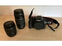 Canon EOS 550D with 18-55mm and 75-300mm canon lenses