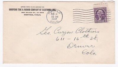 Goodyear Tire   Rubber Company Of California Pueblo Colorado Aug 2 1932