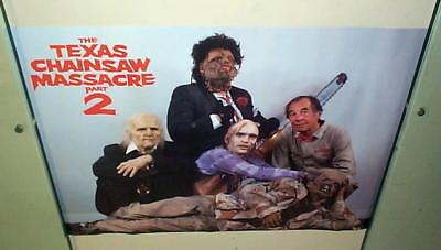 TEXAS CHAINSAW MASSACRE 2 Vintage Cast Poster! Halloween - Texas Halloween
