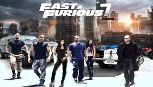 Fast and Furious 7 Hot Movie Fabric poster 20