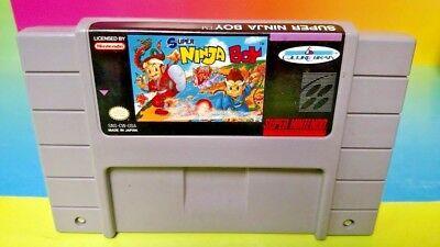 Super Ninja Boy  - Super Nintendo SNES Cart Tested - Authentic RARE ! Clean